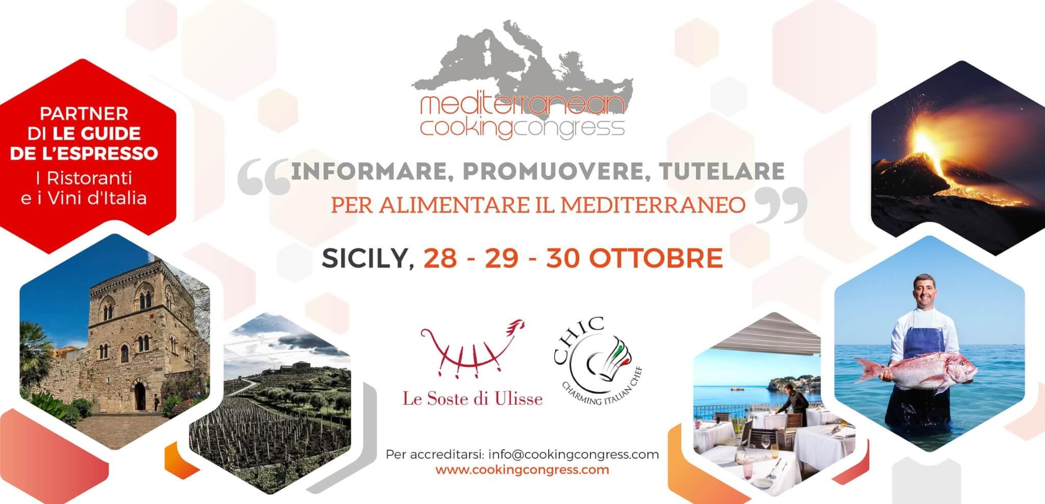Mediterranean Cooking Congress, dal 28 al 30 ottobre a Taormina